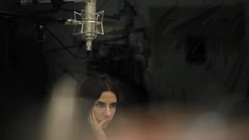 "A still image of PJ Harvey  from  the feature documentary ""A Dog Called Money"", directed by Seamus Murphy."